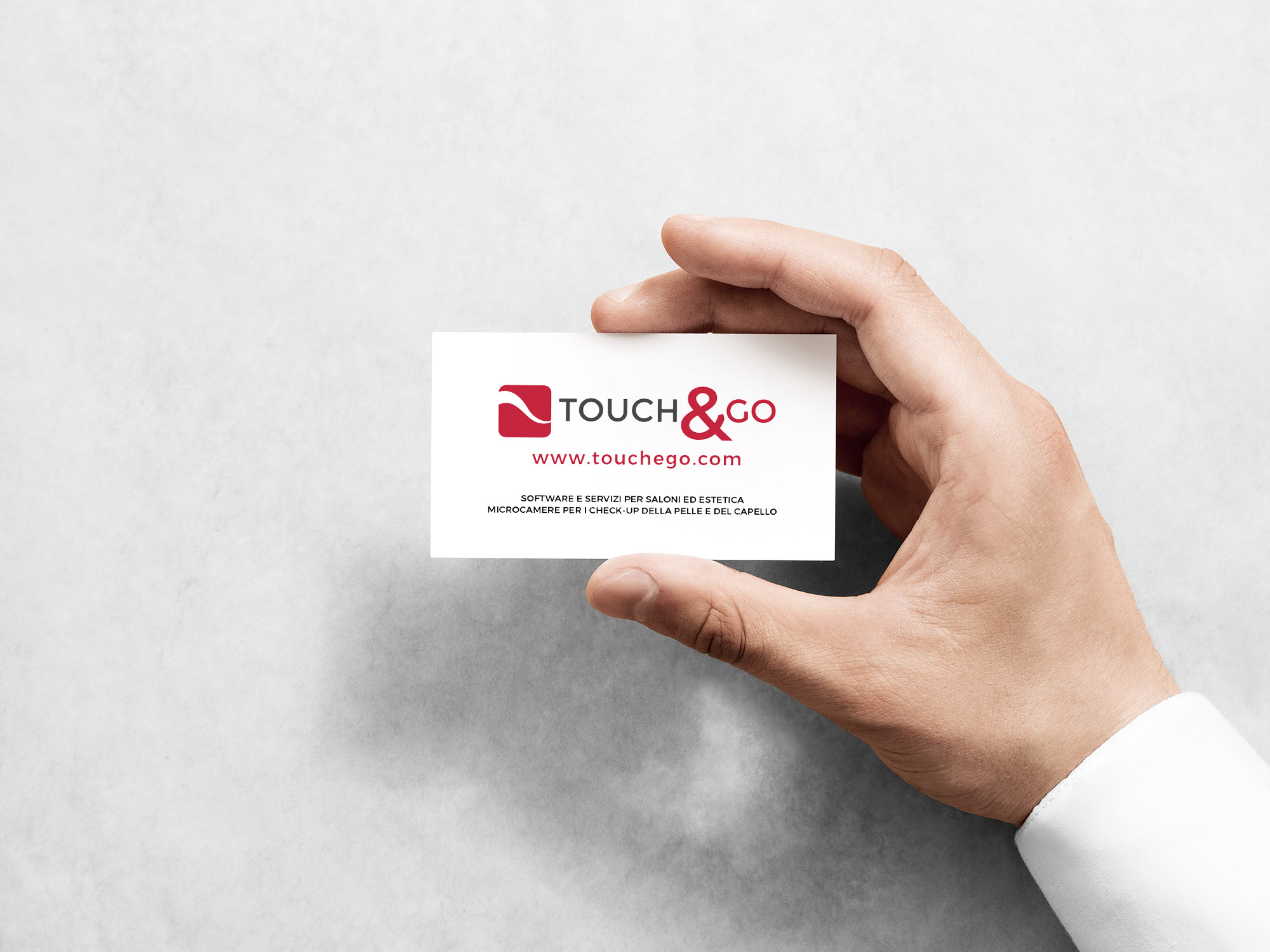 business card touch & go